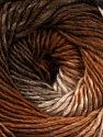 Fiber Content 50% Acrylic, 50% Wool, Brand ICE, Cream, Brown Shades, Yarn Thickness 2 Fine  Sport, Baby, fnt2-55455