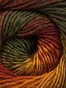 Fiber Content 50% Acrylic, 50% Wool, Brand ICE, Gold, Dark Green, Copper, Yarn Thickness 2 Fine  Sport, Baby, fnt2-55458