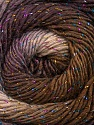 Fiber Content 48% Wool, 48% Acrylic, 4% Metallic Lurex, Lilac, Brand ICE, Cream, Brown, Yarn Thickness 2 Fine  Sport, Baby, fnt2-55564