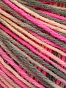 Fiber Content 50% Acrylic, 50% Wool, Pink Shades, Brand ICE, Grey, Yarn Thickness 3 Light  DK, Light, Worsted, fnt2-56209