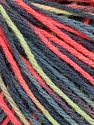 Fiber Content 50% Acrylic, 50% Wool, Salmon, Mint Green, Brand ICE, Grey Shades, Yarn Thickness 3 Light  DK, Light, Worsted, fnt2-56215