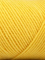 Fiber Content 50% Acrylic, 50% Wool, Yellow, Brand ICE, Yarn Thickness 3 Light  DK, Light, Worsted, fnt2-56439