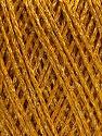 Fiber Content 85% Viscose, 25% Metallic Lurex, Brand ICE, Gold, Yarn Thickness 3 Light  DK, Light, Worsted, fnt2-57039