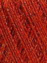 Fiber Content 85% Viscose, 15% Metallic Lurex, Orange, Brand ICE, Copper, Yarn Thickness 3 Light  DK, Light, Worsted, fnt2-57041
