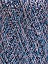 Fiber Content 75% Viscose, 25% Metallic Lurex, Lilac, Brand ICE, Blue, Yarn Thickness 2 Fine  Sport, Baby, fnt2-57044