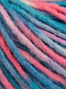 Fiber Content 60% Acrylic, 40% Wool, White, Salmon, Brand ICE, Blue Shades, Yarn Thickness 5 Bulky  Chunky, Craft, Rug, fnt2-57246