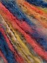 Fiber Content 50% Acrylic, 50% Wool, Yellow, White, Salmon, Brand ICE, Blue, Yarn Thickness 4 Medium  Worsted, Afghan, Aran, fnt2-57256