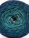 Fiber Content 75% Superwash Wool, 25% Polyamide, Turquoise Shades, Brand ICE, Grey, Blue, fnt2-57337