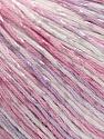 Fasergehalt 70% Merzerisation, 30% Viskose, White, Light Pink, Light Lilac, Brand KUKA, fnt2-57577