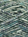 Fiber indhold 70% Akryl, 30% Uld, White, Turquoise, Brand ICE, Grey Shades, Yarn Thickness 4 Medium  Worsted, Afghan, Aran, fnt2-57643