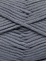 This is a tube-like yarn with soft fleece inside. Fiber Content 73% Viscose, 27% Polyester, Light Grey, Brand ICE, fnt2-57839