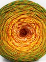 Fiber Content 50% Acrylic, 50% Cotton, Yellow, White, Orange, Brand ICE, Green Shades, Yarn Thickness 2 Fine  Sport, Baby, fnt2-57926