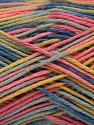 Contenido de fibra 100% Acrílico, Yellow, Pink, Brand ICE, Blue Shades, Yarn Thickness 2 Fine  Sport, Baby, fnt2-57935