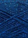 Fiber Content 50% Cotton, 30% Acrylic, 20% Metallic Lurex, Brand ICE, Blue, fnt2-58012