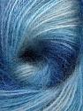 Vezelgehalte 75% Acryl, 25% Angora, Brand ICE, Blue Shades, Yarn Thickness 2 Fine  Sport, Baby, fnt2-58017