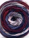 Fiber Content 100% Acrylic, Navy, Maroon, Lilac, Brand ICE, Grey, Yarn Thickness 4 Medium  Worsted, Afghan, Aran, fnt2-58029