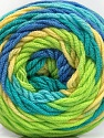 Fiber Content 100% Acrylic, Yellow, Turquoise, Light Green, Brand ICE, Blue, Yarn Thickness 4 Medium  Worsted, Afghan, Aran, fnt2-58031