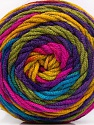 Fiber Content 100% Acrylic, Rainbow, Brand ICE, Yarn Thickness 4 Medium  Worsted, Afghan, Aran, fnt2-58032