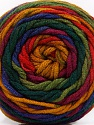 Fiber Content 100% Acrylic, Red, Purple, Brand ICE, Green Shades, Gold, Yarn Thickness 4 Medium  Worsted, Afghan, Aran, fnt2-58033