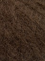 Knitted as 4 ply Vezelgehalte 40% Polyamide, 30% Kid mohair, 30% Acryl, Brand ICE, Dark Brown, Yarn Thickness 1 SuperFine  Sock, Fingering, Baby, fnt2-58074