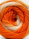 Contenido de fibra 90% Acrílico, 10% Poliamida, White, Orange Shades, Brand ICE, Yarn Thickness 4 Medium  Worsted, Afghan, Aran, fnt2-58124