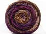 Contenido de fibra 100% Acrílico, Purple Shades, Brand ICE, Brown Shades, Yarn Thickness 4 Medium  Worsted, Afghan, Aran, fnt2-58138