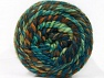 Fiber indhold 70% Akryl, 30% Uld, Turquoise, Brand ICE, Green Shades, Brown Shades, Yarn Thickness 6 SuperBulky  Bulky, Roving, fnt2-58158
