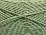 Fiber Content 50% Acrylic, 50% Wool, Light Green, Brand ICE, fnt2-58187