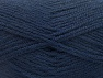 Fiber Content 50% Wool, 50% Acrylic, Navy, Brand ICE, Yarn Thickness 4 Medium  Worsted, Afghan, Aran, fnt2-58227