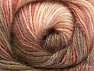 Vezelgehalte 50% Mohair, 50% Acryl, White, Salmon Shades, Brand ICE, Brown Shades, fnt2-58358