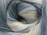 Fiber Content 50% Mohair, 50% Acrylic, Light Lilac, Brand ICE, Grey Shades, Cream, fnt2-58361