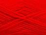 Fiber Content 50% Wool, 50% Acrylic, Red, Brand ICE, Yarn Thickness 4 Medium  Worsted, Afghan, Aran, fnt2-58376