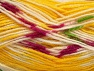 Fiber Content 75% Acrylic, 25% Wool, Yellow, White, Brand ICE, Yarn Thickness 3 Light  DK, Light, Worsted, fnt2-58391