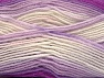 Fiber Content 75% Acrylic, 25% Wool, White, Purple, Lilac, Brand ICE, Yarn Thickness 3 Light  DK, Light, Worsted, fnt2-58392