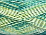 Fiber indhold 50% Præmie acryl, 50% Bomuld, Brand ICE, Green Shades, Yarn Thickness 2 Fine  Sport, Baby, fnt2-58413