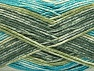 Fiber indhold 50% Præmie acryl, 50% Bomuld, Turquoise, Brand ICE, Green Shades, Yarn Thickness 2 Fine  Sport, Baby, fnt2-58414