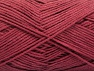 Fiber indhold 67% Bomuld, 33% Polyamid, Brand ICE, Burgundy, Yarn Thickness 2 Fine  Sport, Baby, fnt2-58543