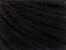Fiber Content 60% Acrylic, 40% Wool, Brand ICE, Black, Yarn Thickness 6 SuperBulky  Bulky, Roving, fnt2-58681