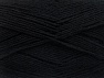 Vezelgehalte 75% superwash wol, 25% Polyamide, Brand ICE, Black, Yarn Thickness 1 SuperFine  Sock, Fingering, Baby, fnt2-58999