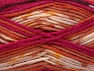 Fiber Content 75% Acrylic, 25% Wool, Salmon, Maroon, Brand ICE, Fuchsia, Cream, Yarn Thickness 4 Medium  Worsted, Afghan, Aran, fnt2-59057
