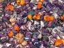Magic Glitz Leftover This lot consists of about 100 hanks of Magic Glitz leftover yarn. The total weight is 2000 gr (70.5 oz.). Fiber Content 95% Acrylic, 5% Lurex, Brand ICE, fnt2-59168
