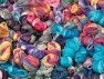 Magic Glitz Leftover This lot consists of about 100 hanks of Magic Glitz leftover yarn. The total weight is 2000 gr (70.5 oz.). Fiber Content 95% Acrylic, 5% Lurex, Brand ICE, fnt2-59171
