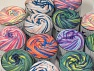 Cakes Air This mixed lot includes a total of 2000 gr (70.5 oz.) yarn. There is no standard for ball weight. You will get what you see in the photo. Fiber Content 50% Polyamide, 50% Acrylic, Brand ICE, fnt2-59680