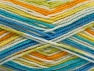 Contenido de fibra 100% Acrílico, White, Turquoise, Brand ICE, Green, Gold, Blue, fnt2-59729