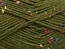 Fiber Content 95% Acrylic, 5% Viscose, Rainbow, Brand ICE, Dark Green, Yarn Thickness 4 Medium  Worsted, Afghan, Aran, fnt2-59766