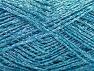 Vezelgehalte 80% Viscose, 20% Metallic lurex, Turquoise, Brand ICE, fnt2-59854