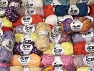 Summer Yarns This mixed lot includes a total of 2000 gr (70.5 oz.) yarn. There is no standard for ball weight. Also disregard any information on the labels. You will get what you see in the photo. Brand ICE, fnt2-59891