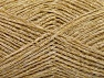 Fiber Content 60% Cotton, 30% Acrylic, 10% Metallic Lurex, Brand ICE, Gold, Cream, fnt2-60093