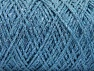 Fiber Content 90% Cotton, 10% Metallic Lurex, Light Blue, Brand ICE, Yarn Thickness 4 Medium  Worsted, Afghan, Aran, fnt2-60137
