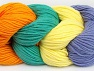 Fiber Content 50% Acrylic, 50% Cotton, Yellow, Orange, Lilac, Brand ICE, Emerald Green, Yarn Thickness 3 Light  DK, Light, Worsted, fnt2-60264